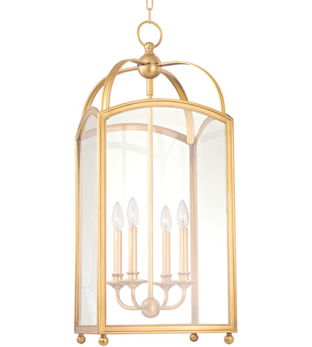Hudson Valley 8414-AGB Millbrook 4 Light 14 inch Aged Brass Chandelier Ceiling Light photo