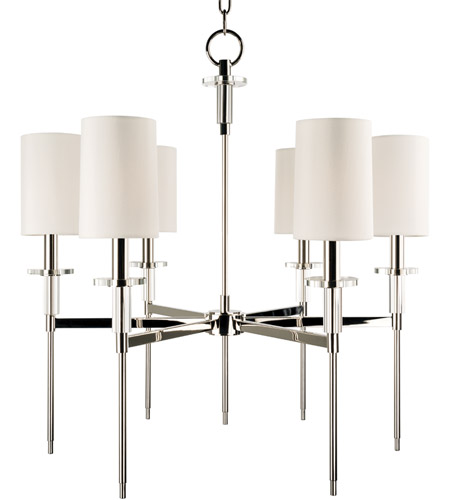 Hudson Valley 8516-PN Amherst 6 Light 25 inch Polished Nickel Chandelier Ceiling Light photo