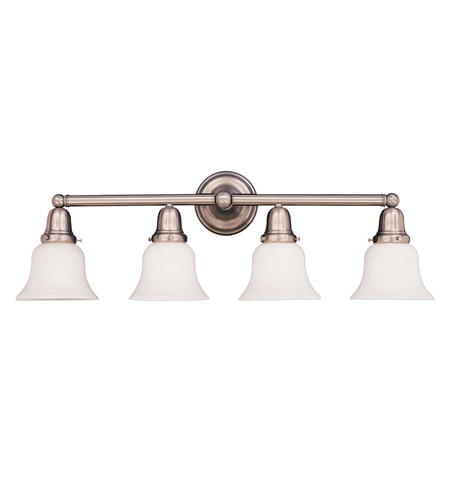 Hudson Valley Lighting Historic 4 Light Bath And Vanity in Satin Nickel 864-SN-341 photo