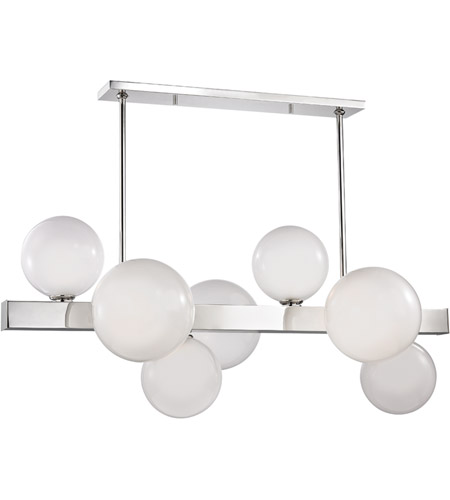 Hudson Valley 8717-PN Hinsdale 7 Light 44 inch Polished Nickel Island Ceiling Light photo