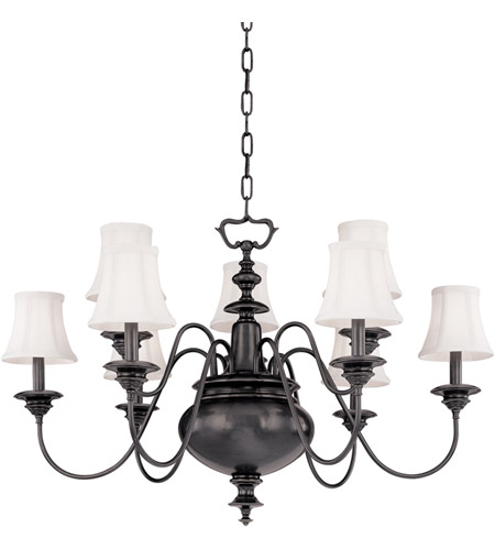 Hudson Valley 8719-OB Yorktown 9 Light 37 inch Old Bronze Chandelier Ceiling Light photo