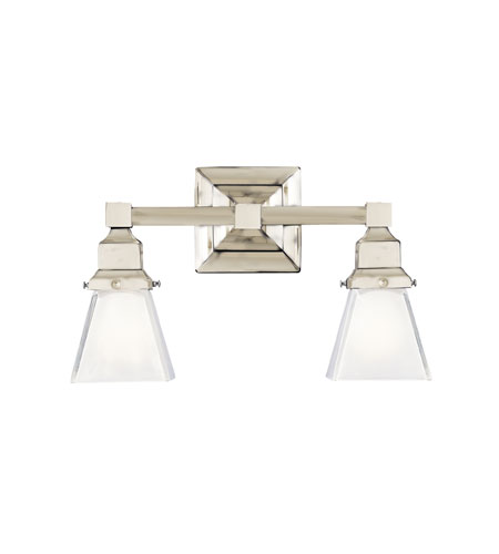 Hudson Valley Lighting Gramercy Square 2 Light Bath And Vanity in Satin Nickel 872-SN photo