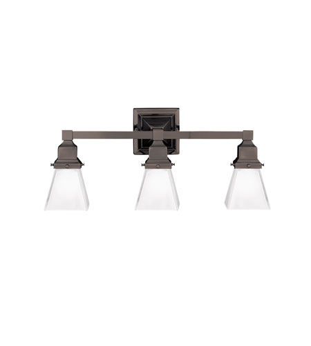 Hudson Valley Lighting Gramercy Square 3 Light Bath And Vanity in Old Bronze 873-OB photo