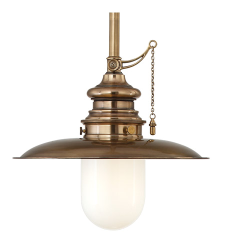 Hudson Valley Lighting Kendall 1 Light Pendant in Aged Brass 8815-AGB photo