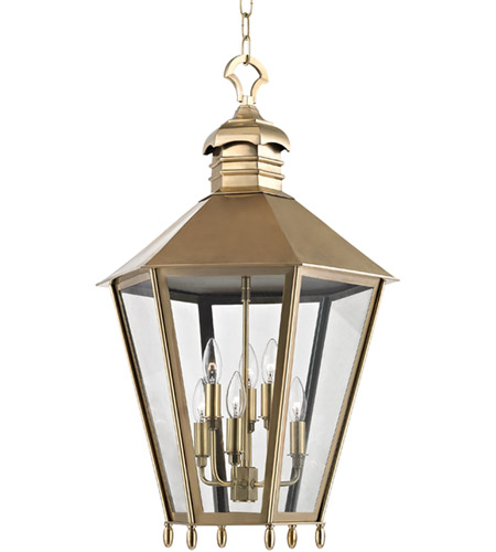 barstow 6 light 20 inch aged brass outdoor hanging lantern