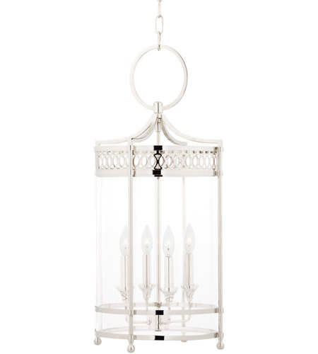 Hudson Valley 8994-PN Amelia 4 Light 13 inch Polished Nickel Pendant Ceiling Light photo