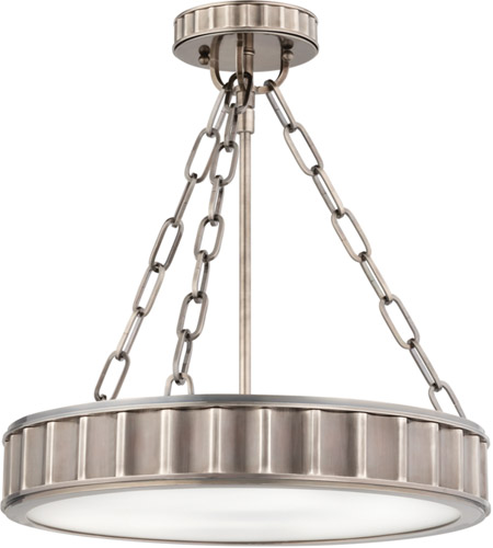 Hudson Valley 901-HN Middlebury 3 Light 16 inch Historic Nickel Semi Flush Ceiling Light photo