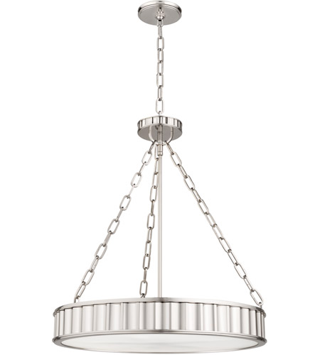 Hudson Valley 902-PN Middlebury 5 Light 22 inch Polished Nickel Pendant Ceiling Light photo