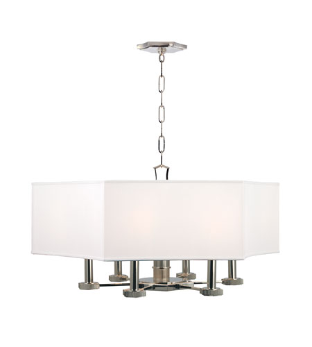 Hudson Valley Lighting Russell 6 Light Chandelier in Polished Nickel 9030-PN photo