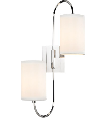 Hudson Valley 9100-PN Junius 2 Light 12 inch Polished Nickel Wall Sconce Wall Light photo