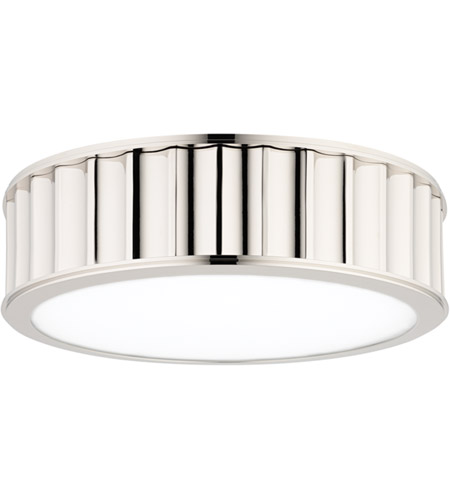 Hudson Valley 911-PN Middlebury 2 Light 13 inch Polished Nickel Flush Mount Ceiling Light  photo