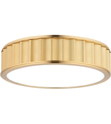 Hudson Valley 912-AGB Middlebury 3 Light 16 inch Aged Brass Flush Mount Ceiling Light photo
