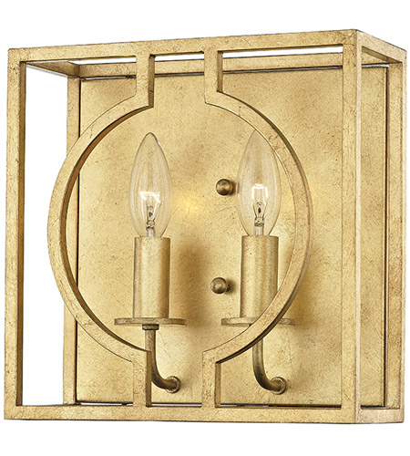 Hudson Valley 9200 Gl Octavio 2 Light 10 Inch Gold Leaf Ada Wall Sconce