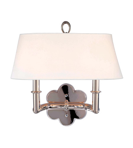 Hudson Valley Lighting Pomona 2 Light Wall Sconce in Polished Nickel 922-PN photo