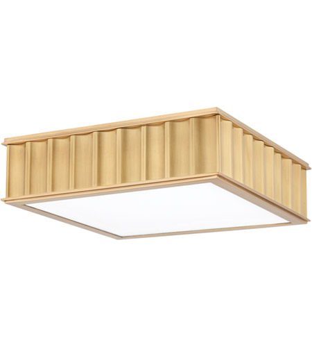 Hudson Valley Lighting Middlebury 2 Light Flush Mount in Aged Brass 931-AGB photo
