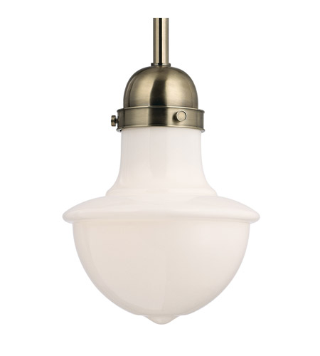 Hudson Valley Lighting Branford 1 Light Pendant in Historic Nickel 9413-HN photo