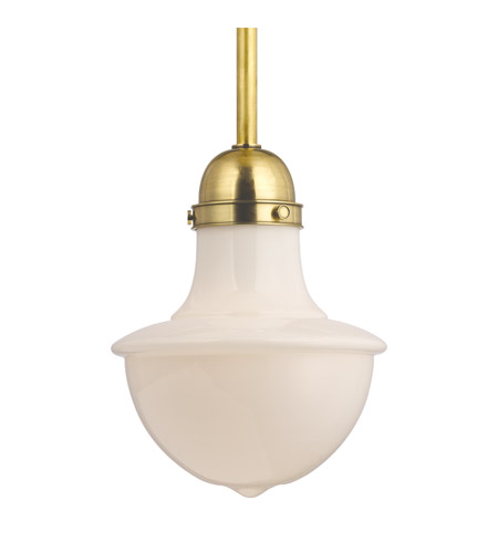 Hudson Valley Lighting Branford 1 Light Pendant in Aged Brass 9416-AGB photo
