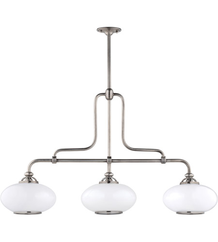 Hudson Valley 9813-ON Canton 3 Light 48 inch Old Nickel Island Light Ceiling Light photo