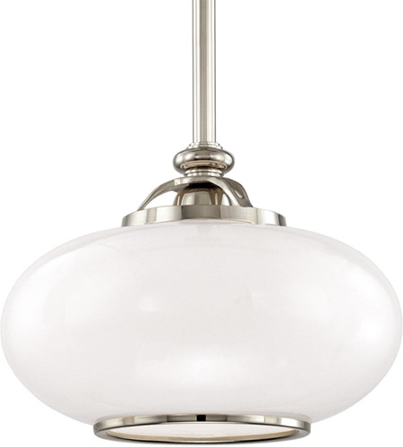 Hudson Valley 9815-PN Canton 1 Light 15 inch Polished Nickel Pendant Ceiling Light photo thumbnail