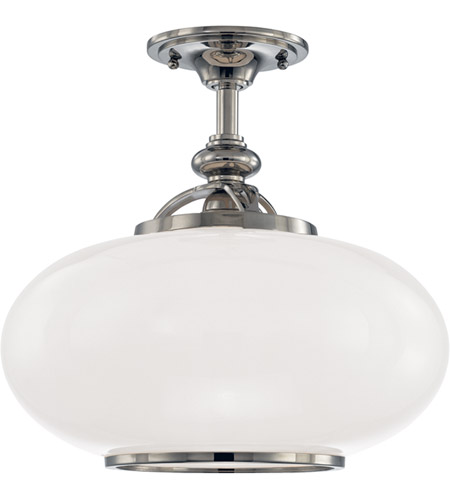 Hudson Valley Lighting Canton 1 Light Semi Flush in Polished Nickel 9815F-PN photo