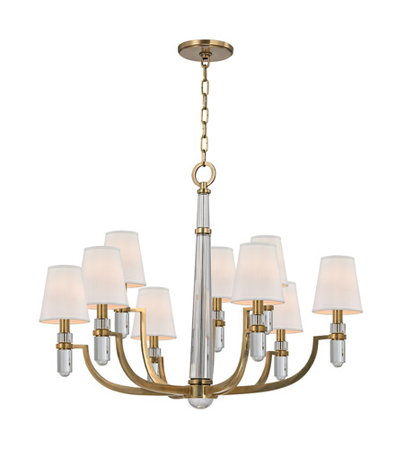 Hudson Valley Lighting Dayton 9 Light Chandelier in Aged Brass 989-AGB photo