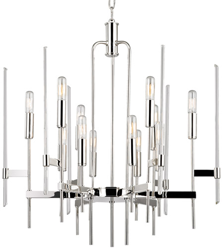 Where Is Hudson Valley Lighting Made: Hudson Valley 9912-PN Bari 12 Light 24 Inch Polished