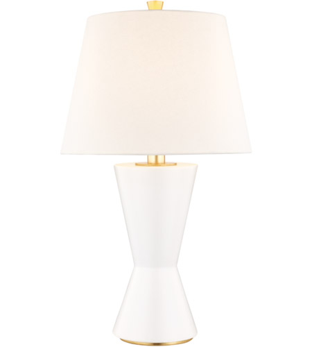Hudson Valley L1040-MW Ashland 23 inch 100 watt Matte White Table Lamp Portable Light photo