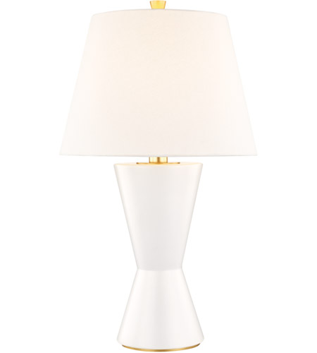 Hudson Valley L1042-MW Ashland 30 inch 100 watt Matte White Table Lamp Portable Light photo