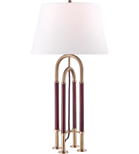 Hudson Valley L1132-AGB Arnett 29 inch 75 watt Aged Brass Table Lamp Portable Light photo thumbnail