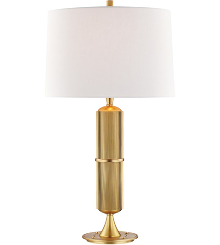 Hudson Valley L1187 Agb Tompkins 28 Inch 75 Watt Aged Brass Table Lamp Portable Light