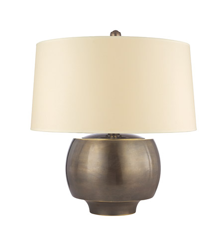 Hudson Valley Lighting Holden 1 Light Portable Table Lamp in Distressed Bronze with Eco Paper Shade L164-DB photo