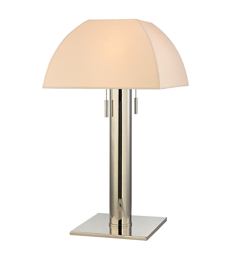 Hudson Valley Lighting Alba 2 Light Table Lamp in Polished Nickel with Eco Paper Shade L246-PN photo