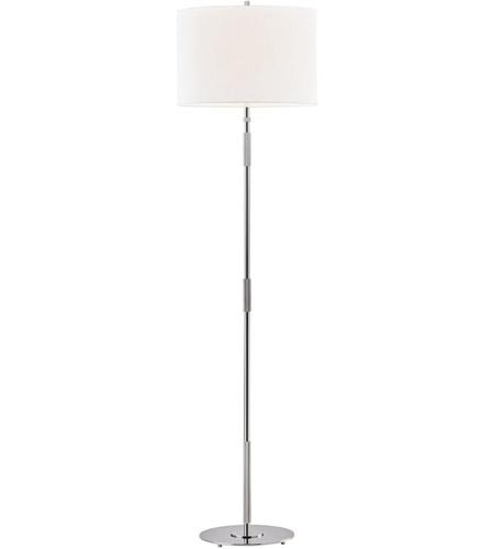 Hudson Valley L3724 Pn Bowery 62 Inch 100 Watt Polished Nickel Floor Lamp Portable Light