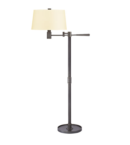 Hudson Valley Lighting Lindale 1 Light Portable Floor Lamp in Old Bronze with Eco Paper Shade L526-OB photo