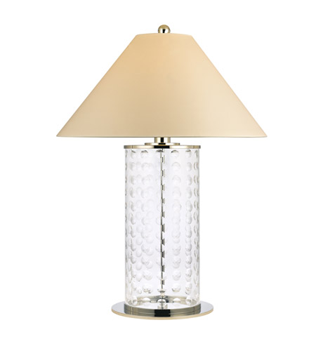 Hudson Valley Lighting Shelby 1 Light Portable Table Lamp in Polished Nickel with Eco Paper Shade L538-PN photo