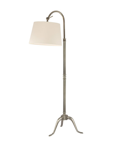 Hudson Valley Lighting Burton 1 Light Portable Floor Lamp in Aged Silver L605-AS photo