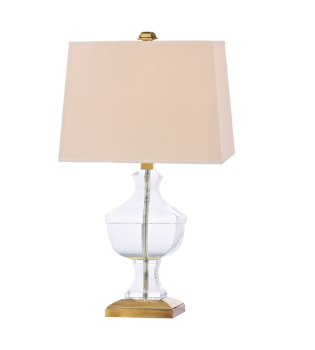 Hudson Valley Lighting Clyde Hill 1 Light Portable Table Lamp in Aged Brass with Eco Paper Shade L744-AGB photo