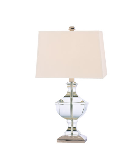 Hudson Valley Lighting Clyde Hill 1 Light Portable Table Lamp in Polished Nickel L744-PN photo