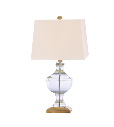 Hudson Valley Lighting Clyde Hill 1 Light Portable Table Lamp in Aged Brass with Eco Paper Shade L746-AGB photo