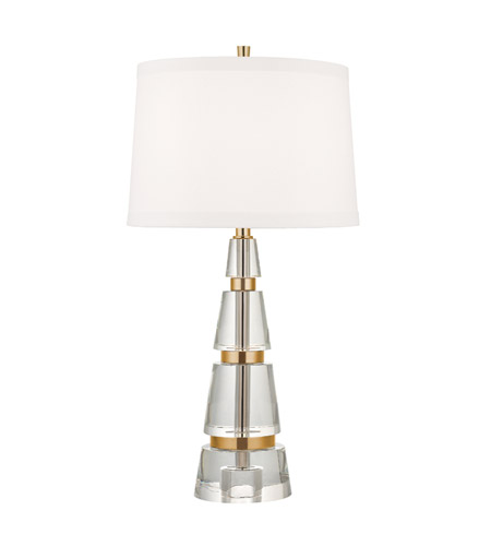 Hudson Valley Lighting Modena 1 Light Table Lamp in Aged Brass L777-AGB-WS photo