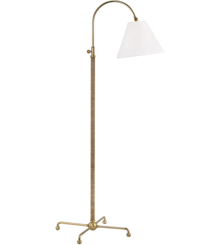 Hudson Valley MDSL503-AGB Curves No. 1 62 inch 75 watt Aged Brass Floor Lamp Portable Light photo