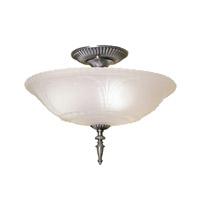 Hudson Valley Lighting Americana 3 Light Semi Flush in Satin Pewter 066-SP