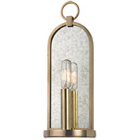 Hudson Valley Lighting Lowell 1 Light Wall Sconce in Aged Brass 091-AGB