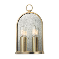 Lowell 2 Light 8 inch Aged Brass Wall Sconce Wall Light