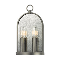 Lowell 2 Light 8 inch Antique Nickel Wall Sconce Wall Light