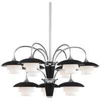 Barron 9 Light 31 inch Polished Nickel Chandelier Ceiling Light