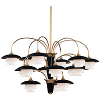 Barron 15 Light 39 inch Aged Brass Chandelier Ceiling Light