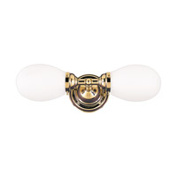 Hudson Valley Lighting Edison 2 Light Bath And Vanity in Polished Brass 102-PB