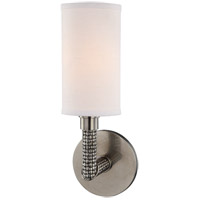 Dubois 1 Light 5 inch Historic Nickel Wall Sconce Wall Light, Off-White Linen