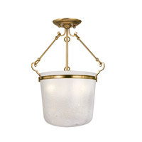 Hudson Valley Lighting Amenia 3 Light Semi Flush in Aged Brass 1030-AGB photo thumbnail